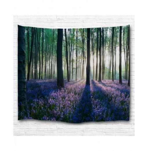 Lavender in The Woods 3D Printing Home Wall Hanging Tapestry for Decoration