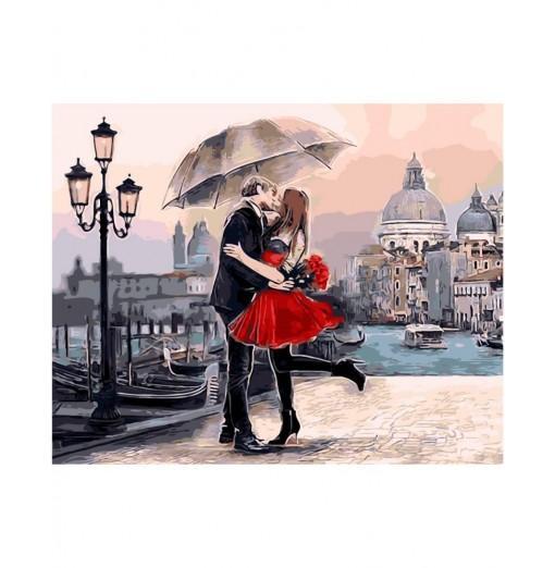 Kissing Lovers DIY Digital Oil Hand Painting Wall Decor