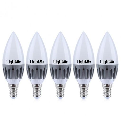Lightme 5Pcs LightMe E14 220-240V C37 3W LED Bulb SMD 2835 Spot Globe Lighting