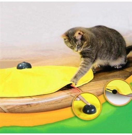 Cat'S Meow Undercover Mouse Yellow Skirt Moving Wand Mouse Toy