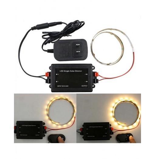 DC 12V - 24V 8A Wireless RF Remote LED Single Color Dimmer Brightness Controller Switch Lamp For Single Color Strip Lights