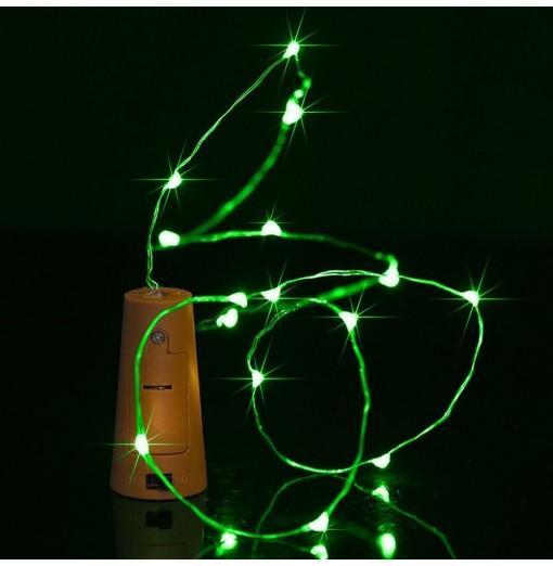 BRELONG 8LED Wine Stopper Brass Lights Decorative Light String