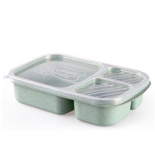 1Pc Wheat Straw Lunchbox Storage Container Biodegradable Bento Lunch Boxes