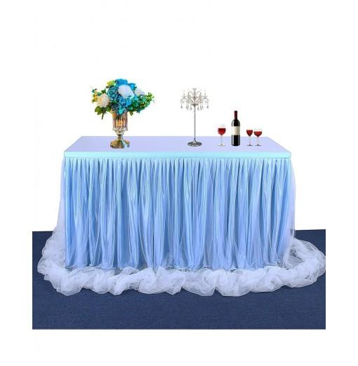 Tulle Table Skirt Tablecloth for Round and Rectangular Table