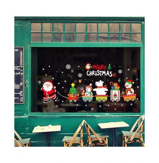 Merry Christmas PVC Window Wall Sticker