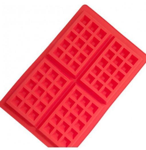 DIHE Silica Gel Waffle Cake Baking Mold Rectangle 4 Grid