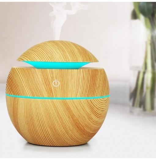 USB Mini Aroma Essential Oil Diffuser Aromatherapy Cool Mist Humidifier 130ML