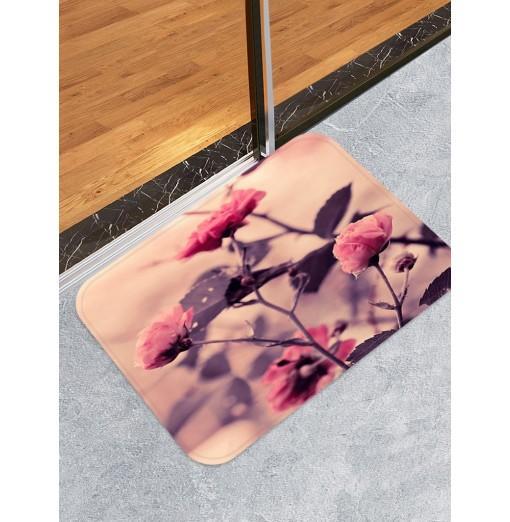 Rose Flower Printed Decorative Floor Mat