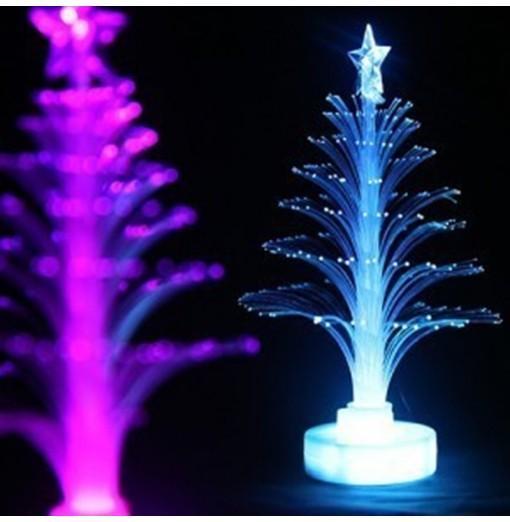 Novelty Glowing Fiber Optic Christmas Tree Night Lamp Led Bottom Sticker Night Light for Children Romantic Home Decorative