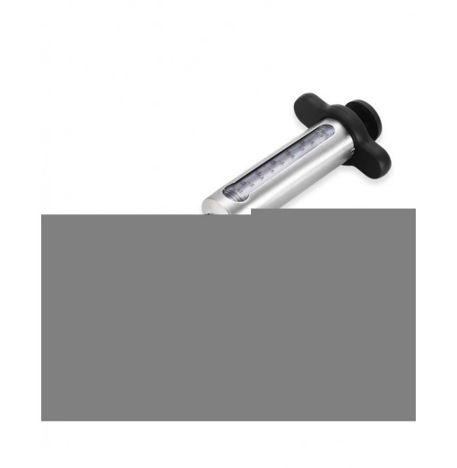 Stainless Steel BBQ Meat Marinade Injector with 2 Needles