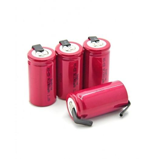 Soshine Sub C Ni-Cd Battery 1900mAh 1.2V with Nicke Belt 4PCS