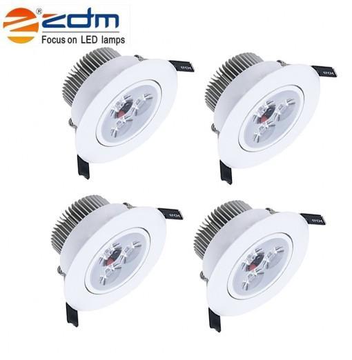ZDM 4PCS 5W 400 - 450LM LED Low Voltage Led Ceiling Lamp Warm / Cool / Natural AC12V / 24V