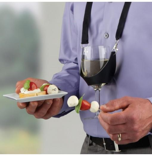 Convenient Silicone Glass Cup Cover Wine Hang Lanyard