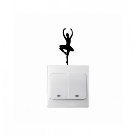Ballet Dancer Fashion Wall Stickers Creative Vinyl Light Switch Decal Home Decor