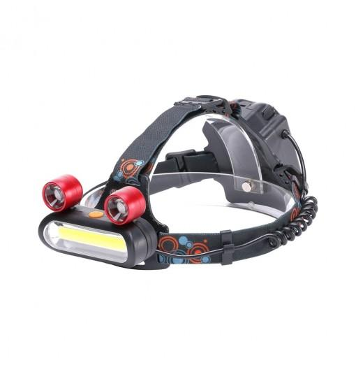 U'King 3000LM 8 LEDs COB Proximity Lighting with 2 Long Range Lighting LEDs Multifunction Light-weight Headlamp
