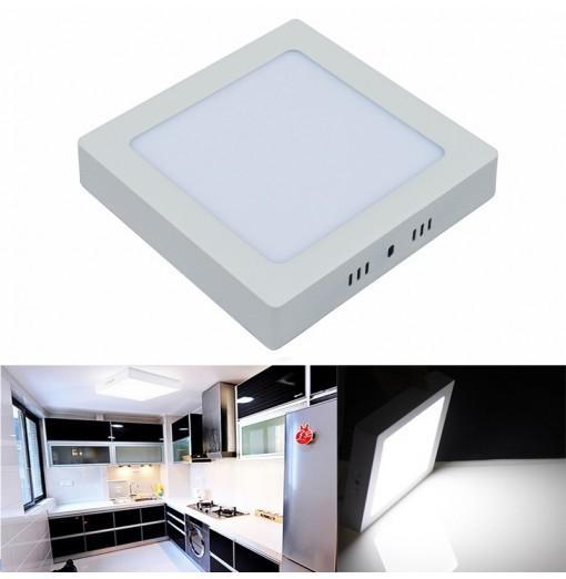 LED Panel Light 12W Surface Mounted LED Ceiling Lights AC 85 - 265V Square LED Downlight