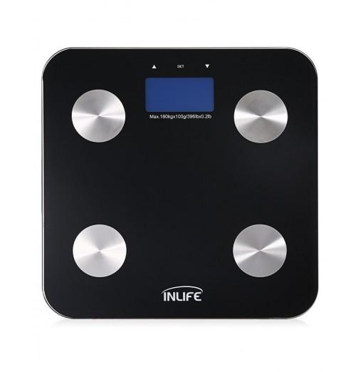 Inlife FB - 12 Measurement Smart Digital BMI Smart Bluetooth Body Fat Weight Scale with Large LCD