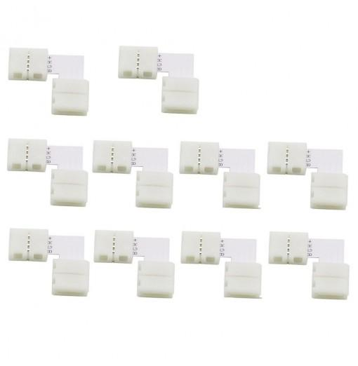10Pcs 4pin 10mm L Shape Solderless Connector for LED 5050 RGB Strip Light