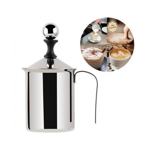 Milk Frother 400/800ML Stainless Steel Double Mesh Coffee Creamer Foamer Maker