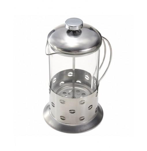 Stainless Steel Manual Pressure Glass Coffee Teapot