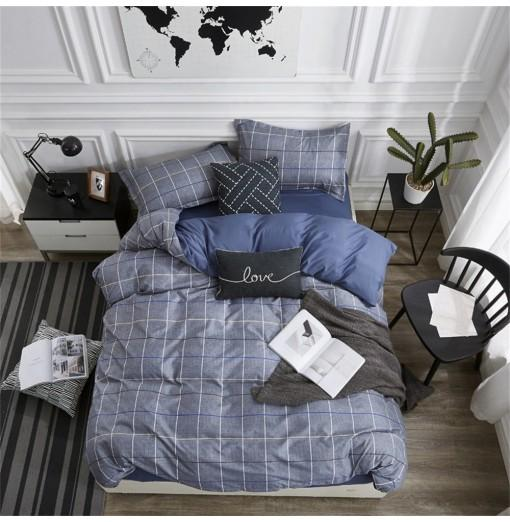 OMONNES Four Simple and Fresh Bed Sheets for Fashion Men
