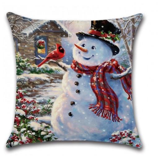 Merry Christmas Pillow Cover Sofa Cushion Cover Pillowcase Decorative Pillows