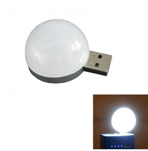 1PC 2W White USB Mini Lamp Night Light 6LED DC5V SMD 200LM for Laptop Power Bank Decorative