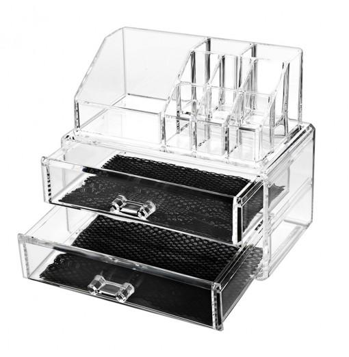 Clear Acrylic Cosmetic Organizer Makeup Container Storage Gift for Couple