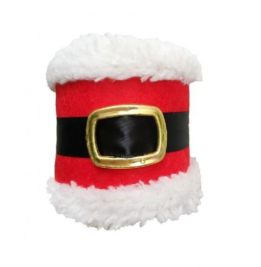 YEDUO Christmas Belt Buckle Shape Napkin Package Decoration for Home Party