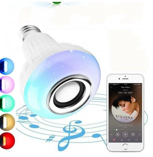 E27 RGB Bluetooth Speaker LED Bulb 12W Music Playing Dimmable Wireless Led Lamp