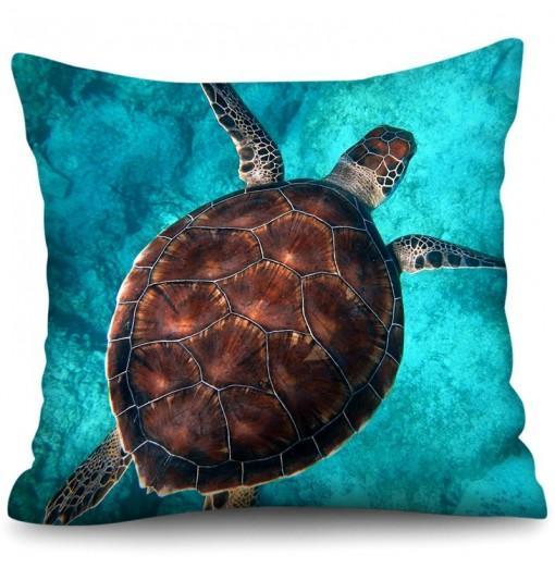 Beach Holiday Series 3D Digital Printing Polyester Hemp Pillowcase