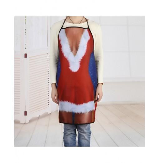 Christmas Santa Dress Gift Print Cooking Apron