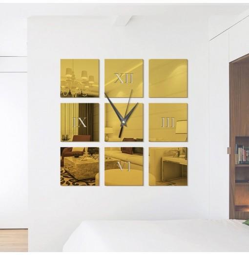 Fashion DIY Acrylic Mirror Wall Stickers Wall Clock Stickers