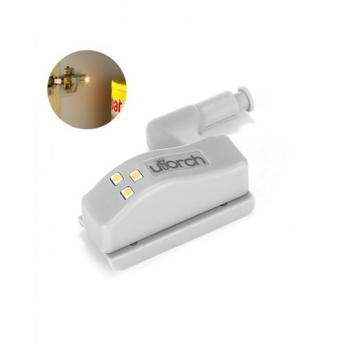 Utorch Cabinet Hinge LED Sensor Light for Kitchen Home Office Closet Wardrobe Lighting