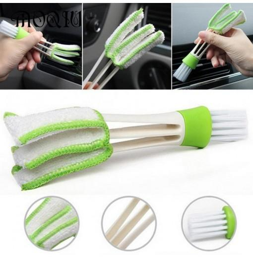 Practical Household Wash Tool Double Slider Car Air Conditioning Outlet Clean Brush Window Blinds Keyboard Cleaner Scrub