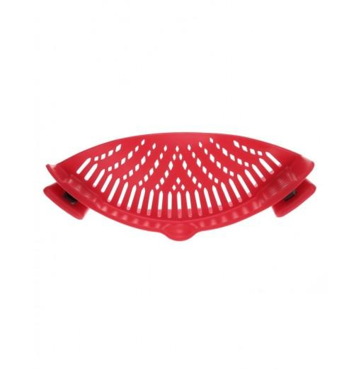 Household Silicone Kitchen Strainer Clip Pan Drain Rack