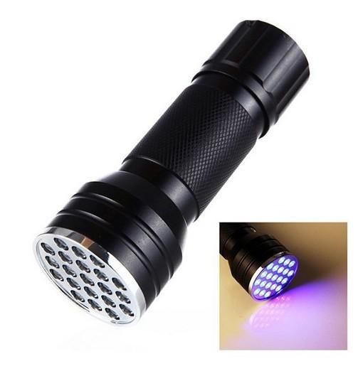 21-LED Ultraviolet Flashlight for Money Detector Catching Scorpion
