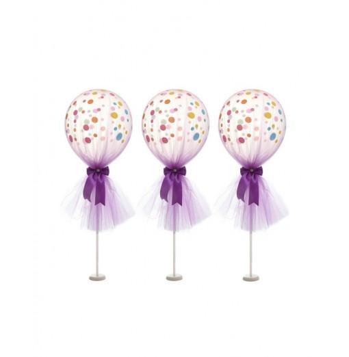 12 inch Tulle Polka Dot Balloon Kit for Birthday Wedding Party