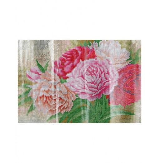 30 x 40cm Peony Flower Diamond Painting Cross Stitch Tool