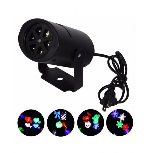 Youoklight 1PCS 4W Rgbw Ac85 - 265V Christmas Lighting Decoration Led Snowflake Projector 4 Pattern Lens Halloween Lighting