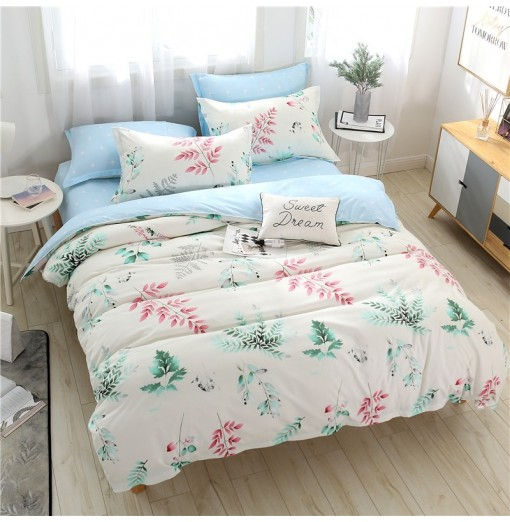 NIUFEISI Four sets of skin-like cotton double bed