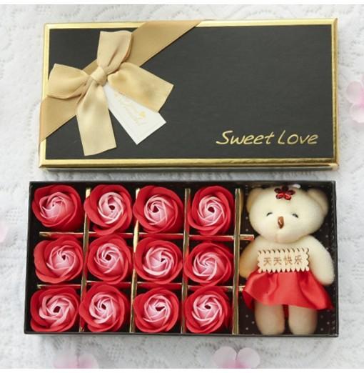 12 Eternal Soap Flower Roses Gift Box Valentine'S Day Gift