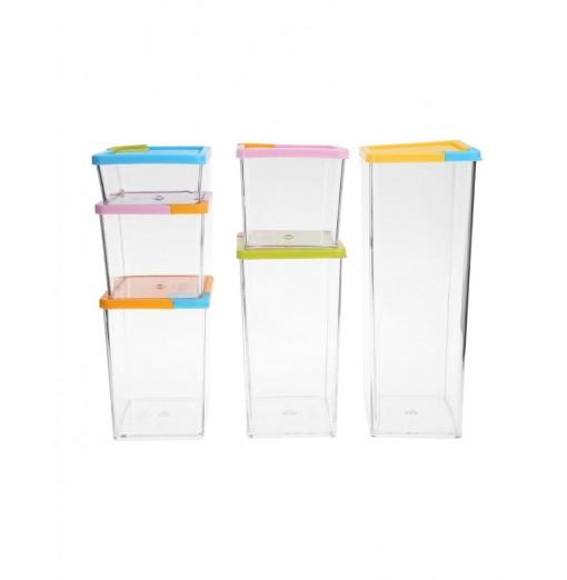 Cereal Grain Crisper Container Kitchen Food Storage Box 6pcs