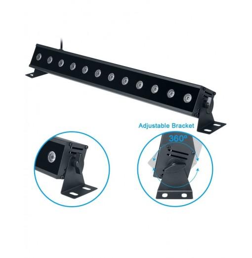 12LEDX3W Led Bar Black Light UV Purple LED Wall Washer Lamp