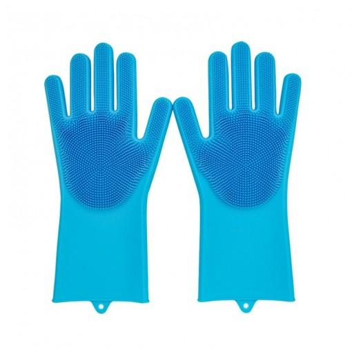 Magic SakSak Reusable Silicone Gloves Scrubber Cleaning Brush Heat Resistant