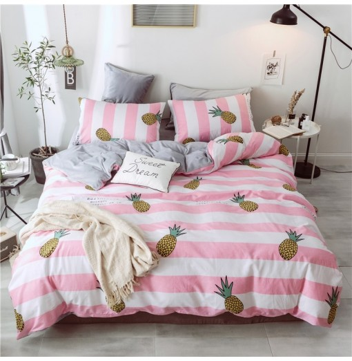 Cotton and Wool Bedding Sets King Size Pineapple
