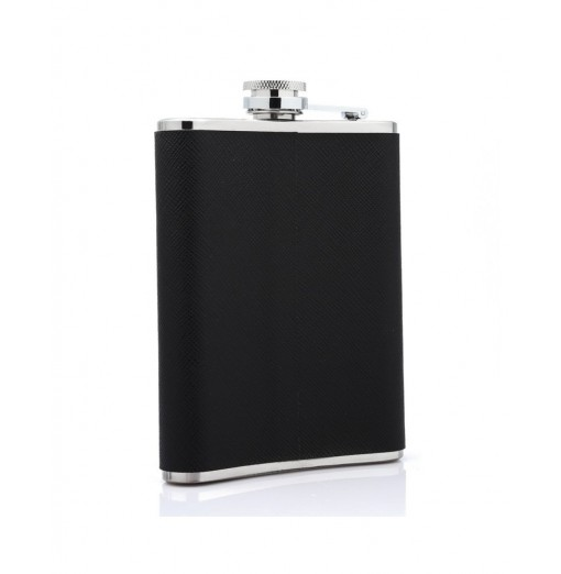7oz Portable Stainless Steel Hip Flask Flagon PU Leather Wine Pot