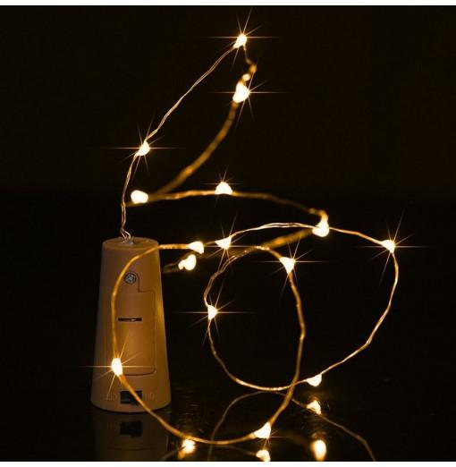 BRELONG 15LED Wine Stopper Brass Lights Decorative Light String