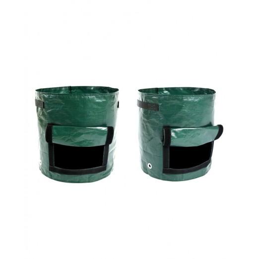 2 Pack PE Plant Grow Bags Potato Planting Bucket Gardening Pots 7 Gallon