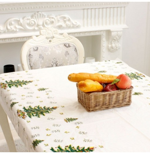 XM 1PCS PVC Christmas Tree Pattern Disposable Tablecloth Holiday Decorations
